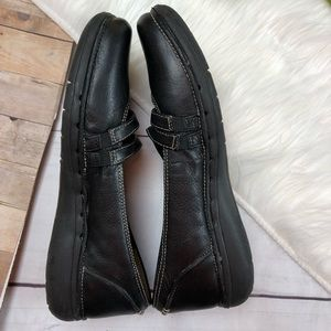 Clarks Shoes - Clarks Unstructured Black Leather Shoes Size 7